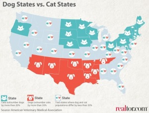 Dogs vs Cats by State Map